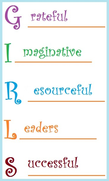 GIRLS Acrostic Poem